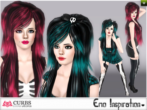 Sims 3 — set emo inspiration by Colores_Urbanos — In this set, two hairstyle and socks. for teens and adults. Hairstyles