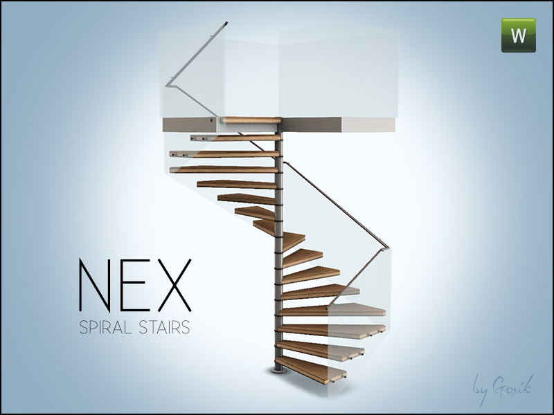 Gosik 39 s nex square spiral stairs for Square spiral staircase plans hall