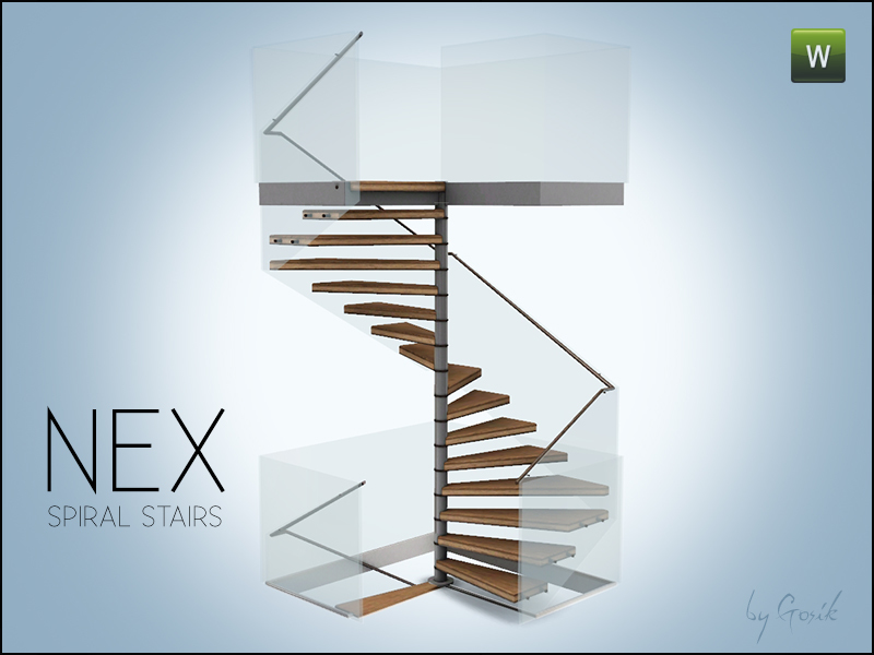 Marvelous Nex Square Spiral Stairs