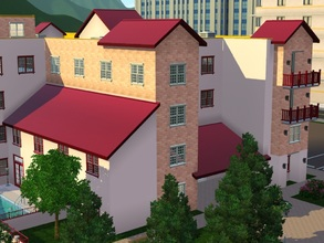 Sims 3 — Simple WineRed Roof by PhenomIIFX2 — I searched all over the internet and can't find a wine red roof so I made