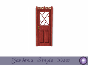 Sims 3 — Gardenia Single Door by D2Diamond — Single door to compliment the Gardenia Collection. Weater your coming or