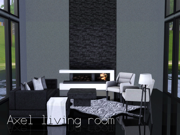 Spacesims 39 axel living room for Modern living room sims 4