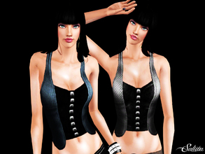 Sims 3 — Cut Out Top with Vest by saliwa — New Design by Saliwa