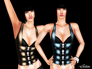 Sims 3 — Skull Top with Vest by saliwa — New Design by Saliwa with skull details