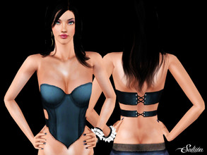 Sims 3 — Exotic Dancer Top by saliwa — Cut Out Top with Saliwa Design