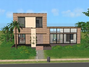Sims 2 — Earthsong by millyana — Sim builders used the rest of a load of recycled wood for this ecofriendly house with 3