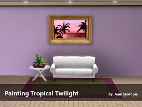 Sims 3 — Painting Tropical Twilight by Jenn_Simtopia — Painting Tropical Twilight