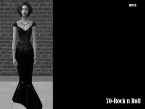 Sims 2 —  Chriko Curvyalphagown Mesh by Well_sims — Mesh for you.