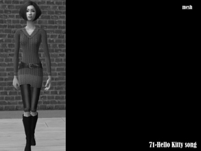 Sims 2 —  Dori Highdangerzonebootsdress Mesh by Well_sims — Mesh for you.