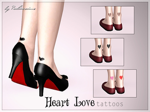 Sims 3 — Heart Love Tattoos by Pralinesims — New sweet tattoos for your sim! Especially beautiful looking with some cute