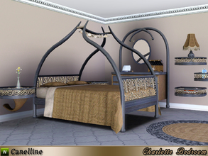 Sims 3 — Charlotte Bedroom by Canelline — An original design for this room, that will allow your Sims to relax in a cozy