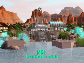 Sims 3 — MRI Marine Research Institute by Satureja2 — A high security Science Lab to investigate marine lifeforms and