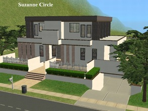 Sims 2 — Suzanne Circle by millyana — Made especially for Suzanne70, this ultra modern 3 bedroom, 2.5 bath home has a