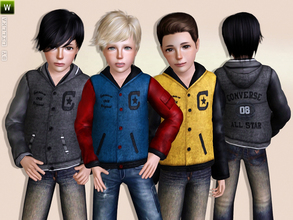 Sims 3 — College Jacket for Boys by lillka — College Jacket for Boys Everyday/Outdoor 3 styles/recolorable I hope you