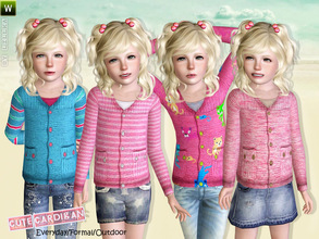 Sims 3 — Cardigan for Girls by lillka — Cute Cardigan for Girls Everyday/Formal/Outdoor 4 styles/recolorable I hope you
