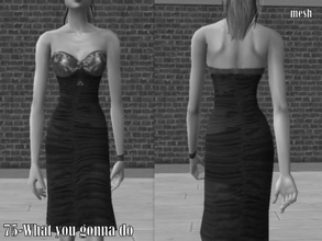 Sims 2 — Chriko Dress09alslides Mesh by Well_sims — Mesh for you.