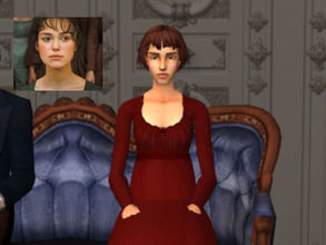 Sims 2 — Elizabeth Bennet by NasiaAnne2 — Elizabeth Bennet from the 2005 Pride and Prejudice movie.