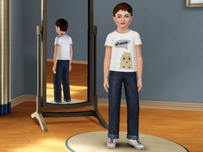 Sims 3 — Owls say Whoooo - Male by amybabe18 — Owls say Whoooo T-Shirt for male children. You will find this under