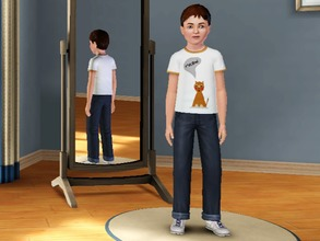 Sims 3 — Cats say Meow - Male by amybabe18 — Cats say Meow T-Shirt for male children. You will find this under everyday,