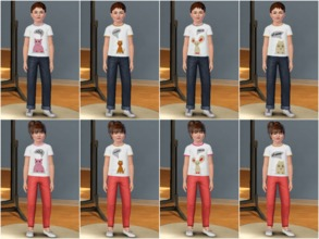Sims 3 — Noises Animals Make by amybabe18 — 8 T-Shirts for children. 4 for boys and 4 for girls. They feature an owl,