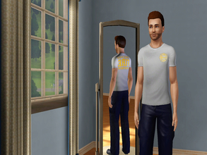 Sims 3 — Chicago Fire Dept Grey Shirt by gianni_lupini — I've realized the grey shirt of the Chicago Fire Dept. also seen