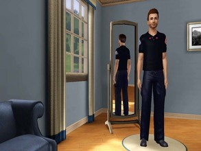 Sims 3 — Chicago Fire Blue Lieutenant Polo  by gianni_lupini — I've realized the blue polo dressed by the lieutenants of