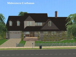 Sims 2 — Midwestern Craftsman by millyana — Here is a basic base game Craftsman style house for Sims who just want a