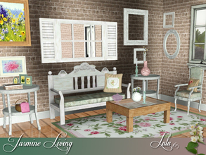 Sims 3 — Jasmine Living by Lulu265 — A garage sale set for you , a little bit Chic and a lot Shabby Fully CAStable