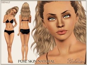 Sims 3 — Pure Skin Natural DEFAULT by Pralinesims — Fully handpainted skintone for your sims. Give them a new look!