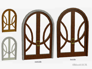 Sims 3 — Bedroom French Quarter - Art Nouveau Door by ShinoKCR — Request