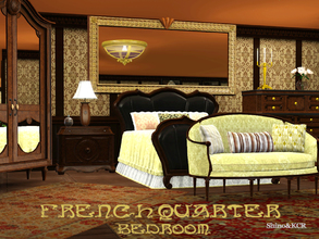 Sims 3 — Bedroom French Quarter by ShinoKCR — French Quarter is a Set which matches fine with the New Orleans Bathroom.