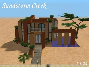 Sims 2 — Sandstorm Creek by luckylibran242 — Modern desert home on the outskirts of Sandstorm creek. Pool for those humid