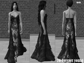 Sims 2 — Mesh Atlauafallwintflowinggown by Well_sims — Mesh for you