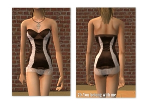 Sims 2 — 79-You belong with me by Well_sims — Beautiful brown-pink Pj\'s for your sim.