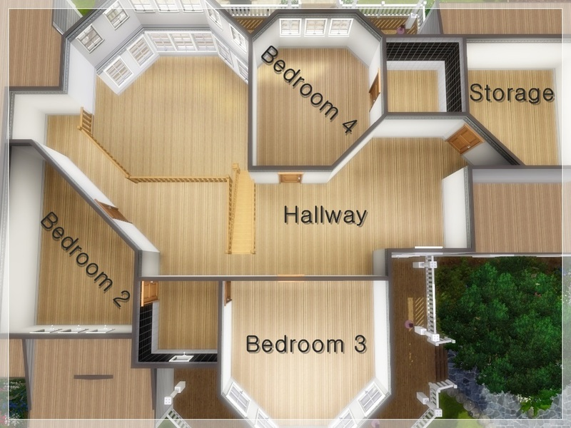 house floor plans no hallways.  Arelien s Family House No CC Base Game