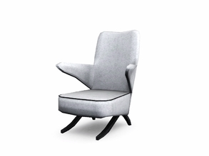 Sims 3 — Atlas Living Chair by sim_man123 — A modern take on a retro-inspired wing chair. Made by sim_man123 from TSR.