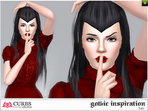 Sims 3 — curbs hairstyle 11 by Colores_Urbanos — gothic inspiration. hairstyle for teens and young adults. From Paraguay