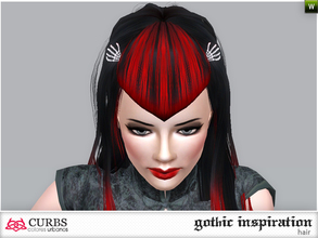 Sims 3 — curbs hairstyle 11V2 by Colores_Urbanos — gothic inspiration. hairstyle for teens and young adults. From