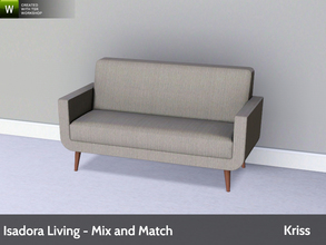Sims 3 — Isadora Living Loveseat by Kriss — Modern and comfortable living. Made by Kriss@TSR. TSRAA