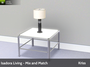 Sims 3 — Isadora Living Table Lamp by Kriss — Modern and comfortable living. Made by Kriss@TSR. TSRAA