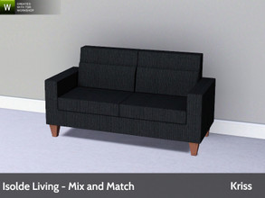 Sims 3 — Isolde Living Loveseat by Kriss — Modern and comfortable living. Made by Kriss@TSR. TSRAA