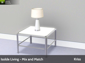 Sims 3 — Isolde Living Table Lamp by Kriss — Modern and comfortable living. Made by Kriss@TSR. TSRAA