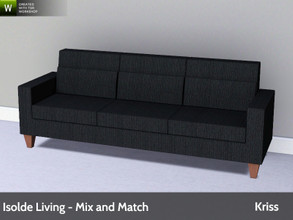 Sims 3 — Isolde Living Sofa by Kriss — Modern and comfortable living. Made by Kriss@TSR. TSRAA