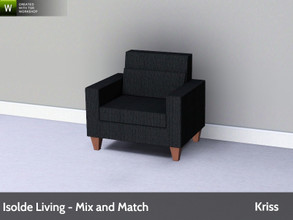 Sims 3 — Isolde Living Livingchair by Kriss — Modern and comfortable living. Made by Kriss@TSR. TSRAA