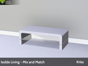 Sims 3 — Isolde Living Coffee Table 1x2 by Kriss — Modern and comfortable living. Made by Kriss@TSR. TSRAA