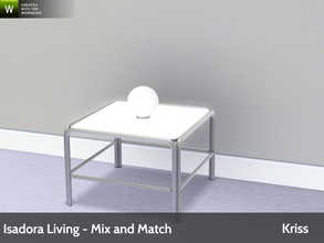 Sims 3 — Isadora Living Small Accent Globe Lamp by Kriss — Modern and comfortable living. Made by Kriss@TSR. TSRAA