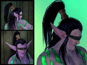 Sims 3 — Illidan Hair by LadyofJustice2 — Hair inspired by Illidan Stormrage from Warcraft