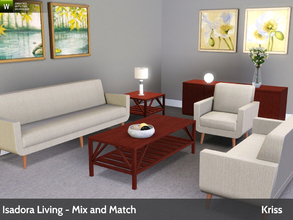 Sims 3 — Isadora Living - Mix and Match Series by Kriss — This is the second set in a small series of mix and match