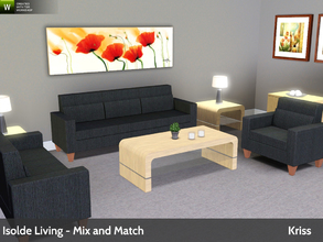 Sims 3 — Isolde Living - Mix and Match Series by Kriss — This is the last set in a small series of mix and match living