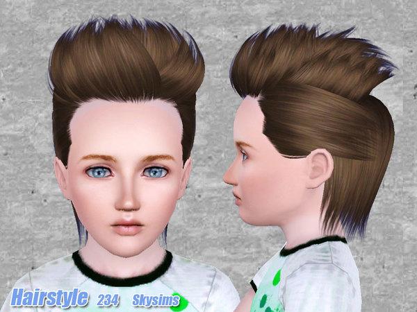 Hair Photos Boy Download: Skysims-Hair-234 Set